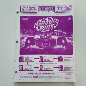 Stern Grand Prix Manual - Used
